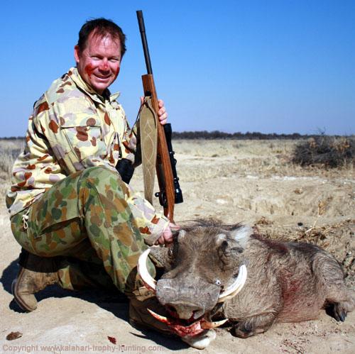 Warthog Hunting, Namibia