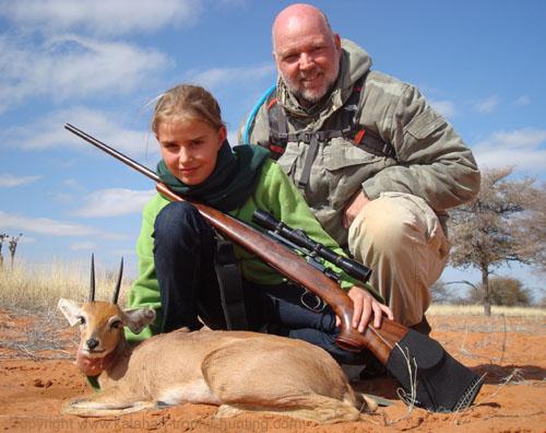 Kalahari Steenbok hunting, Namibia