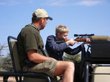 Youth trained hunting