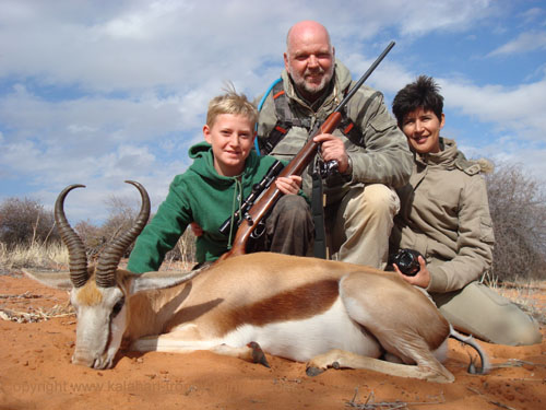 Kalahari Springbok hunting, Namibia