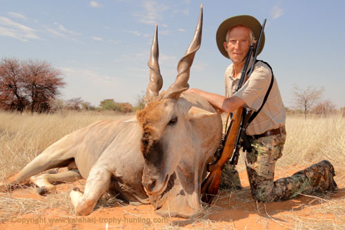 Kalahari Eland hunt, Namibia