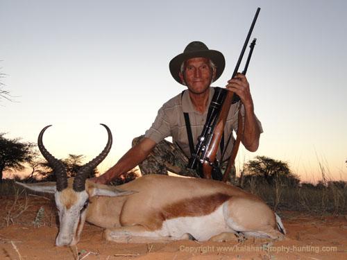 Kalahari Springbok hunt, Namibia