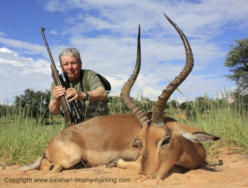 Impala trophy hunting Namibia