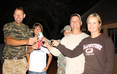 Kalahari family hunt, Namibia