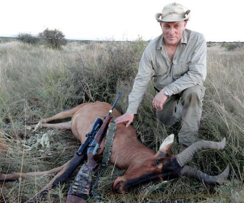 Red Hartebeest trophy hunting Namibia