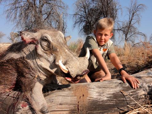 Namibia warthog hunting