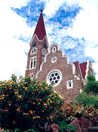 Namibia's famous Christuskirche in Windhoek