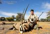 With a Kalahari Gemsbok