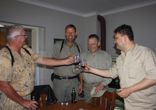 A toast on happy hunting in Namibia