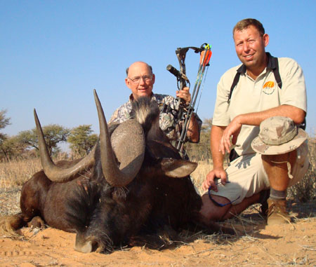 Namibia black wildebeest hunt