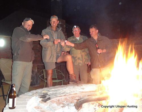 African Safari: hunting friends in the Kalahari