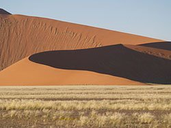 Sand dunes near Sossusvlei, Namibia