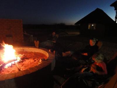 Around the campfire in the Kalahari