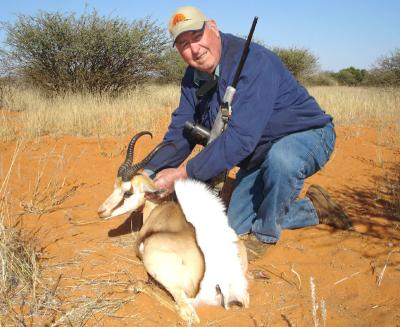 My Springbok, hunted in the Kalahari region of Namibia